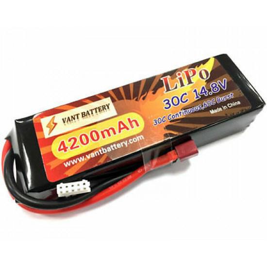 Batteria lipo 4200Mah 14,8v 4s 30c Batterie VT42004S