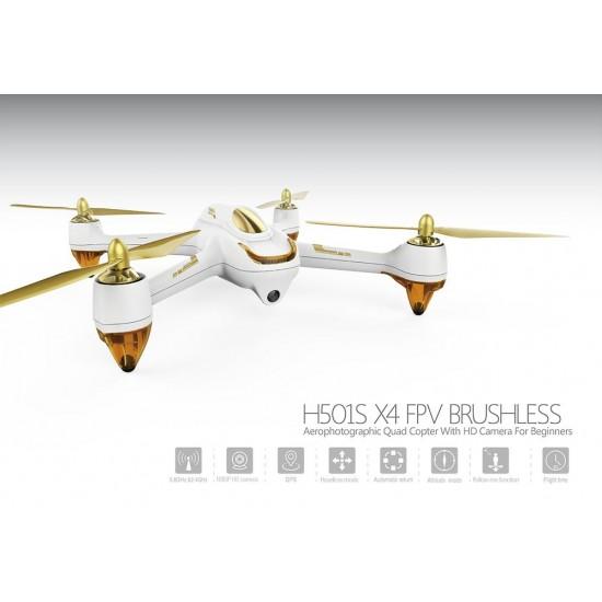Drone Hubsan 501s x4 fpv-gps Quadricotteri h501s-w