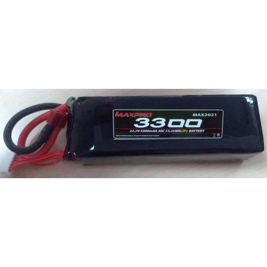 Lipo 6s 22,2v 3300mah 30c Batterie max2021