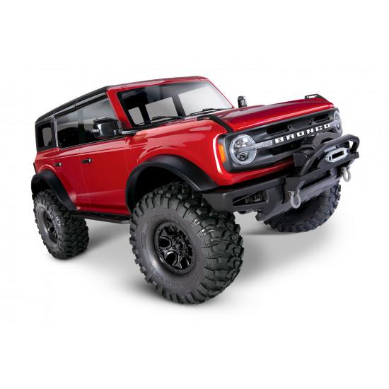 Ford Bronco 2021 TRX4 Traxxas Scaler rosso Auto TXX920764RED
