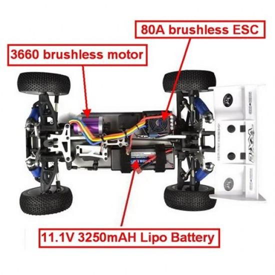 Buggy 1/8 brushless vrx-2e Astrea vrx racing Auto RH812E